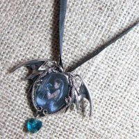 Anne Stokes Water Dragon cameo necklace EC1
