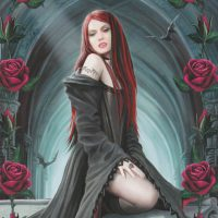 Await the Night Anne Stokes Valentines card AN42
