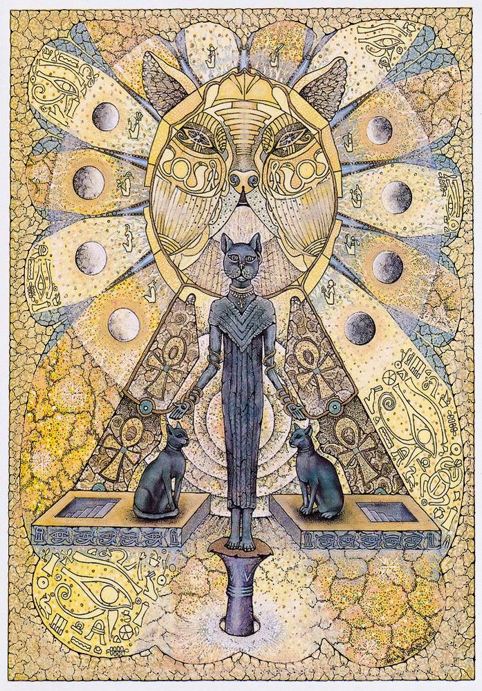 Bast Egyptian Cat Goddess Card by Corrina Rockley Dragonrat – Egyptian Birthday Cards