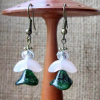 beaded-angel-bronze-earrings-green-pink-front