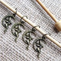 bronze-moon-fairy-knitting-stitch-marker-set-display