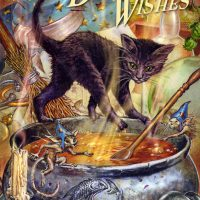 Cauldron Capers Witches Cat Briar birthday card BM50