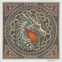 Celtic Dragon Lisa Parker blank card GC109