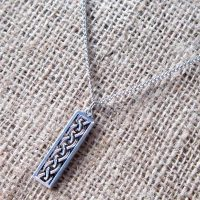 celtic-knotwork-long-rectangle-silver-necklace