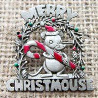 Christmas Merry Christmouse brooch