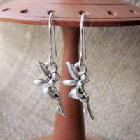 Cute fairy silver earrings display