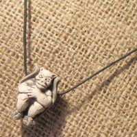 Cute gargoyle cord necklace