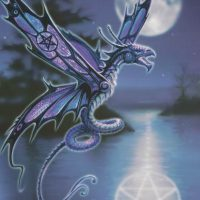 Dragonfly Anne Stokes dragon card AN01