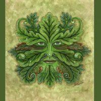 ERM001 Green Man greeting card