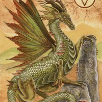 ERM005 Earth Dragon greeting card