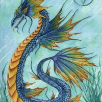ERM014 Water Dragon greeting card