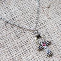 Egyptian ankh necklace JA4 angled