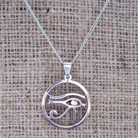 Eye of Horus stainless steel necklace