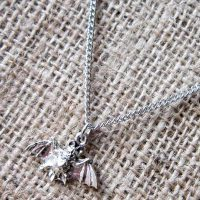 flying-bat-silver-necklace