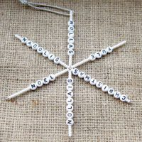 Four nations beaded snowflake ornament