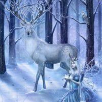 Frozen Fantasy Yule card CB01