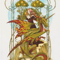 Garden of the Firedrake Briar birthday card BM45