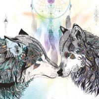 KA8 - Wolf Magic Karin Roberts blank card