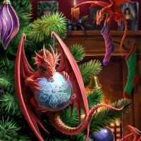 Little Helpers Anne Stokes Yule card AN28