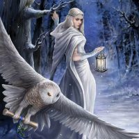 Midnight Messenger Anne Stokes Yule card AN40
