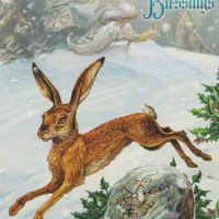 Midwinter Rune Hare Briar Yule card BY23