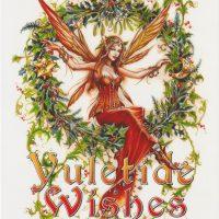 Mistletoe Fairy Briar Yule card BY13