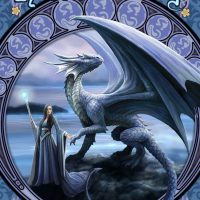 New Horizons Anne Stokes dragon birthday card AN51