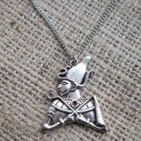 Silver Egyptian Osiris necklace straight