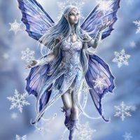 Snowflake Fairy Anne Stokes Yule card AN10