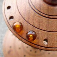 Sterling silver Amber gemstone ball stud earrings 6mm display