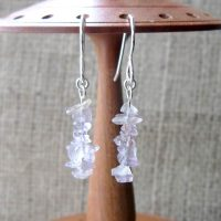 Sterling silver Ametrine tumblechip earrings display