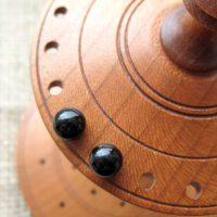 Sterling silver Black Onyx gemstone ball stud earrings 6mm display