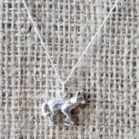 Sterling silver Red Fox necklace front