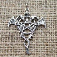 sterling-silver-dragon-pentagram-pendant-sc16