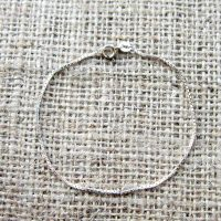 Sterling silver vintage fine box chain bracelet top