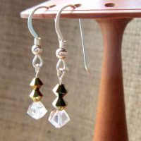 swarovski-crystal-bronze-clear-beaded-sterling-silver-earrings-side