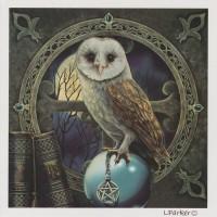 Talisman Owl Lisa Parker blank card GC116