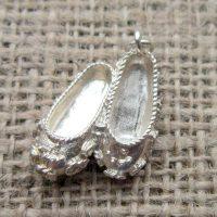 Vintage Sterling silver ballet slippers vintage charm