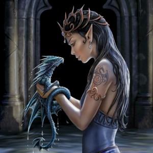 Water Dragon Anne Stokes card AN24