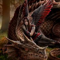 Winged Companions Anne Stokes dragon card AN06