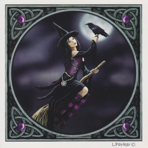 Witch & Raven Lisa Parker blank card GC104