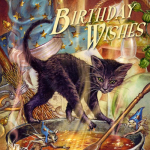 Halloween Cat Birthday Card