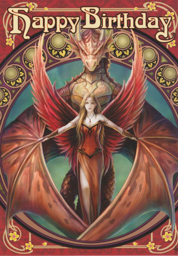 Copperwing dragon angel birthday card by anne stokes dragonrat copperwing dragon angel birthday card by anne stokes m4hsunfo
