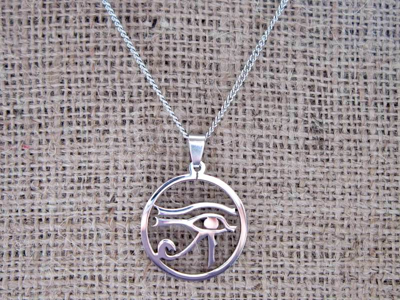 Egyptian Eye of Horus Stainless Steel Necklace