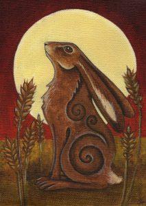 Hare & Moon Card