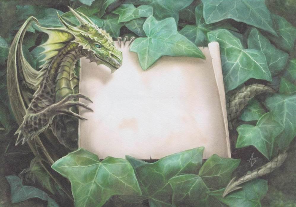Открытка с драконам