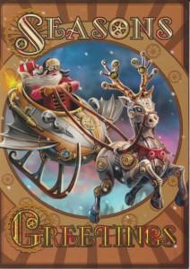 Steampunk Santa Yule card AN56 Anne Stokes