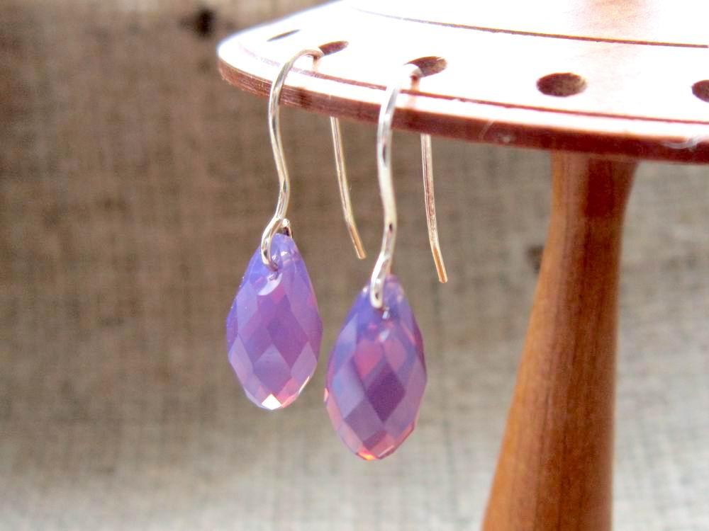 Purple Swarovski Crystal Briolette