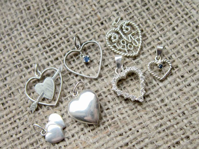 Sterling silver hearts vintage charm collection 2